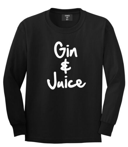 Kings of NY Gin and Juice Long Sleeve T-Shirt New York La California Cali Drinks