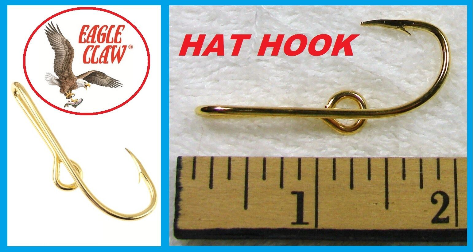 100 EAGLE CLAW HAT HOOKS Hat Pin/Tie FISH Clasp oro PLATED FISH Pin/Tie HOOK HAT PINS  155 62a75b