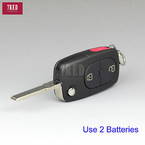 diy flip remote key shell fob for audi a3 a4 s4 3 but small battery holder. Black Bedroom Furniture Sets. Home Design Ideas