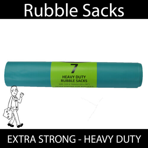 Heavy Duty Builders Rubble Sacks High Strength Extra Strong