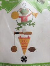 Vintage Carousel Cheerleader Frog MOBILE Plastic Canvas Kit Dick Martin DIY