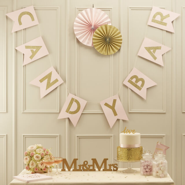 Candy Bar Girlande In Rosa Gold Ebay
