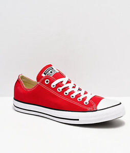 7286d6bcf448 Converse Chuck Taylor Ox Low Top Red White Mens Womens Canvas Shoes ...