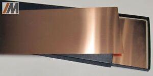 in vendita prima clienti qualità Dettagli su Set: Lastra di Rame SE-Cu58; L : 250/500mm B: 150mm; S :0,01 -  0,5mm +