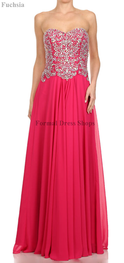 Long Prom Dress Formal Evening Gown Special Occasion Pageant Sweet
