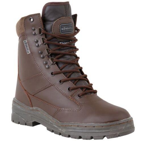 pelle Mens da marrone calzature dell'esercito in da Stivali cadetto 3 lavoro Ragazzi 12 aYB5xwFq