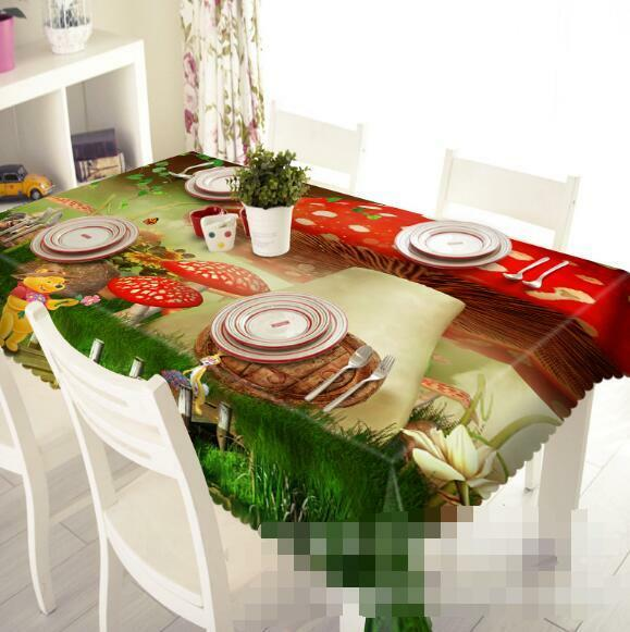 3D Mushrooms 151 Tablecloth Table Cover Cloth Birthday Party Event AJ WALLPAPER