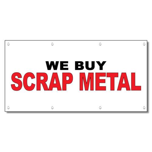 We Buy Scrap Metal Black Red 13 Oz Vinyl Banner Sign With Grommets