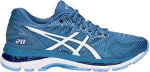 Asics Gel Nimbus 20 Femme Chaussures De Course-bleu-afficher Le Titre D'origine