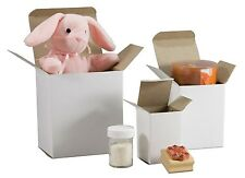 """500  - 2"""" x 2"""" x 4"""""""" White Cardboard Inner Boxes  for Parts, Gifts, Fasteners"""