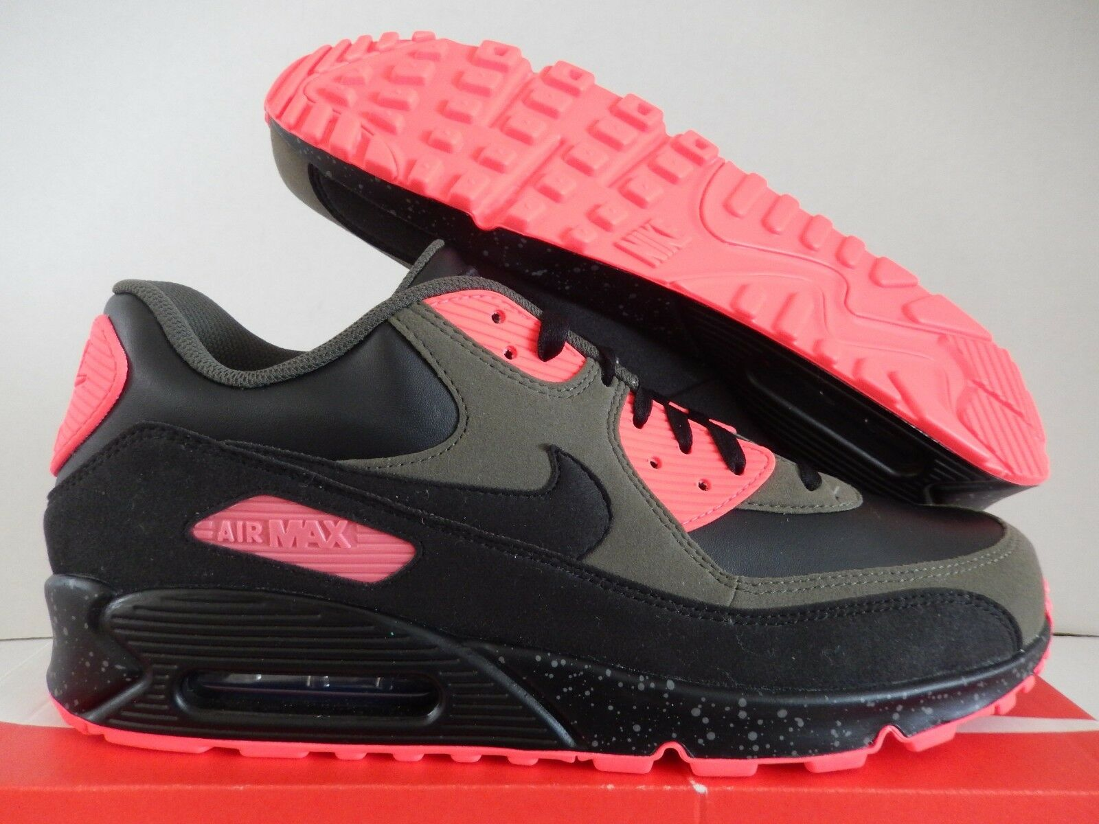 nike air max 90 id [931902-993] black-olive green-infrared sz 12,5 [931902-993] id 11d5cf