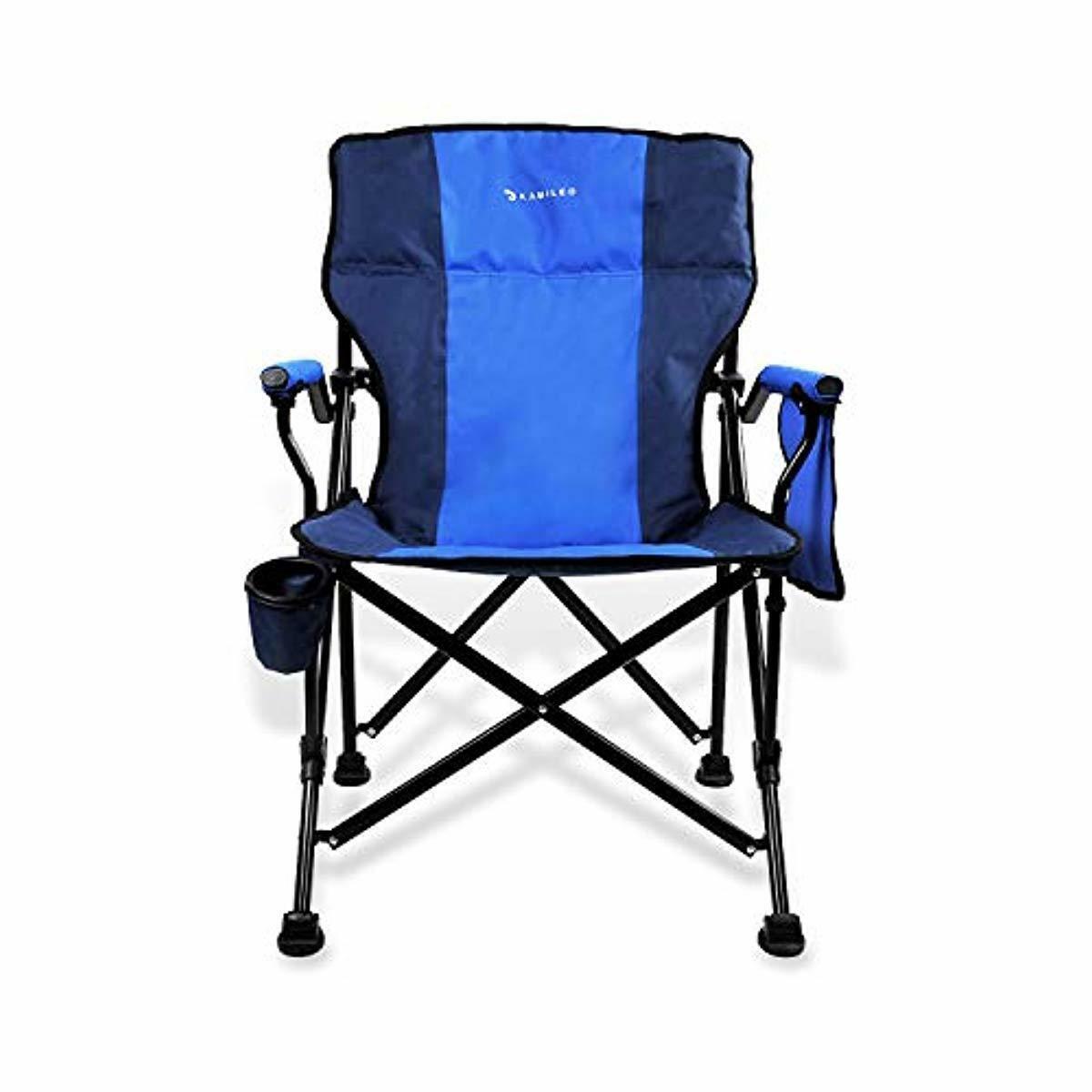 Silla Plegable Reparación Playa Camping Barbacoa Soporte D Vaso Y Bolsillo Confortable