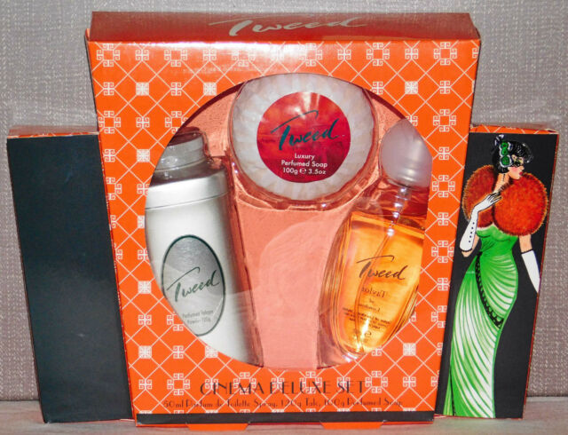 Taylor of London Tweed Set 3 Teile | 50ml Eau de Toilette & Körperpuder & Seife