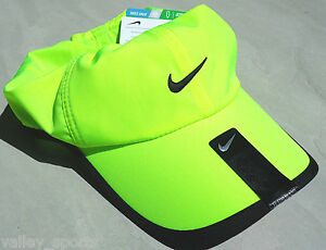 053e0039d02 NEW! Neon Lime NIKE Golf Men-Women s Runner DRI-FIT Tennis Hat ...