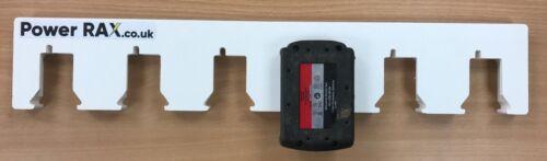 Cerradura de Milwaukee 18v Batería Rack 2-10 ranuras Vant Racking baterías powerrax