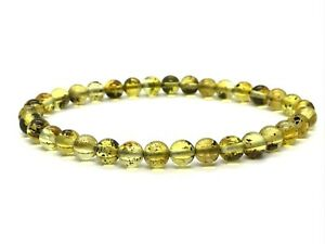 AMBER-BRACELET-Natural-BALTIC-AMBER-Round-Beads-Gift-Jewelry-Elastic-3-2g-12796