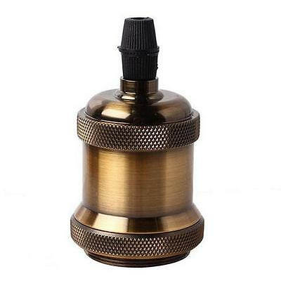 Vintage Screw Metal Brass Light Socket Keyless Lamp Holder Knob for E27 Bulbs