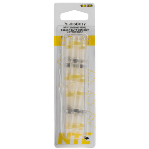 NTE 76?HISBC12 Heat Shrink Insulated Butt Connectors with Internal Fluxed Solder