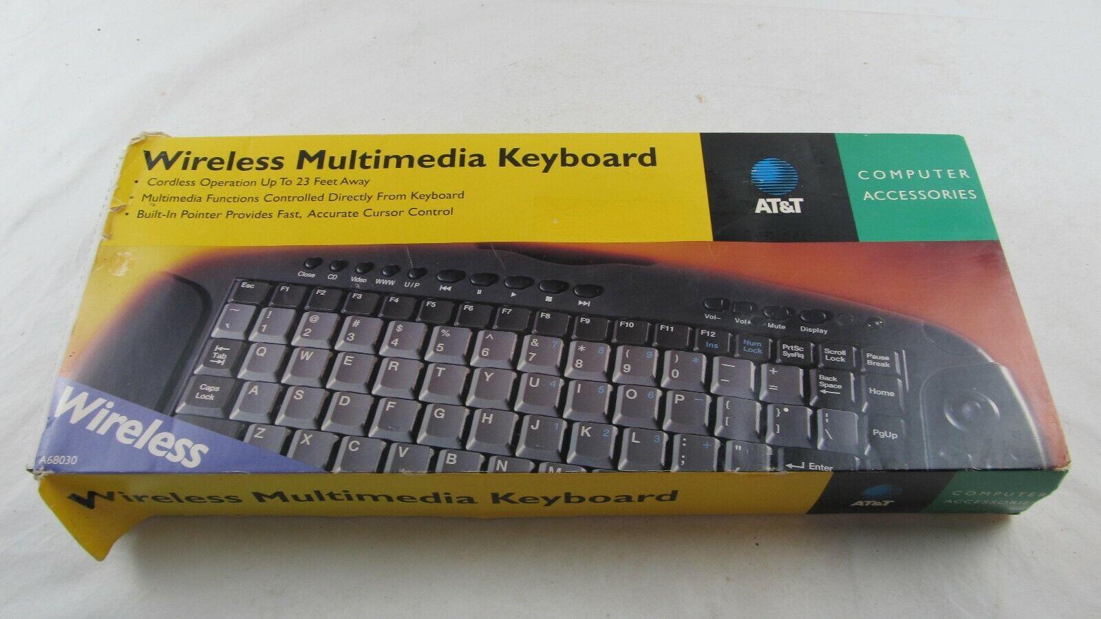ATT Wireless Multimedia Keyboard A68030 1998 In original box. Buy it now for 69.61