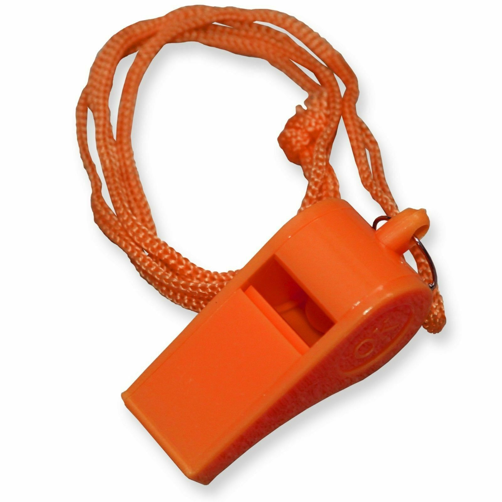 Lot of 24 Plastic Whistle /& Lanyard Emergency Survival  High Quality/_wk