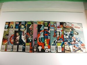 Lot-of-11-The-Punisher-Assorted-Marvel-Comics-including-Blood-amp-Glory-Vol-1-3