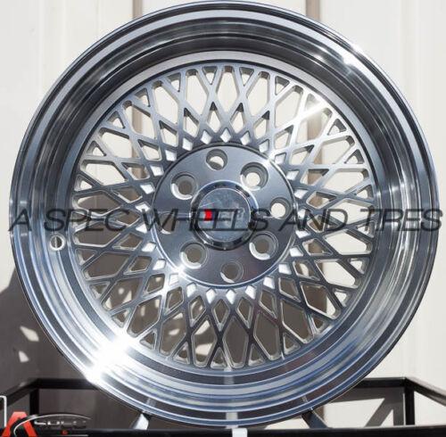 One 15X8 F1R F01 4x100//114.3 25 Machine Silver// Polish Lip Wheel
