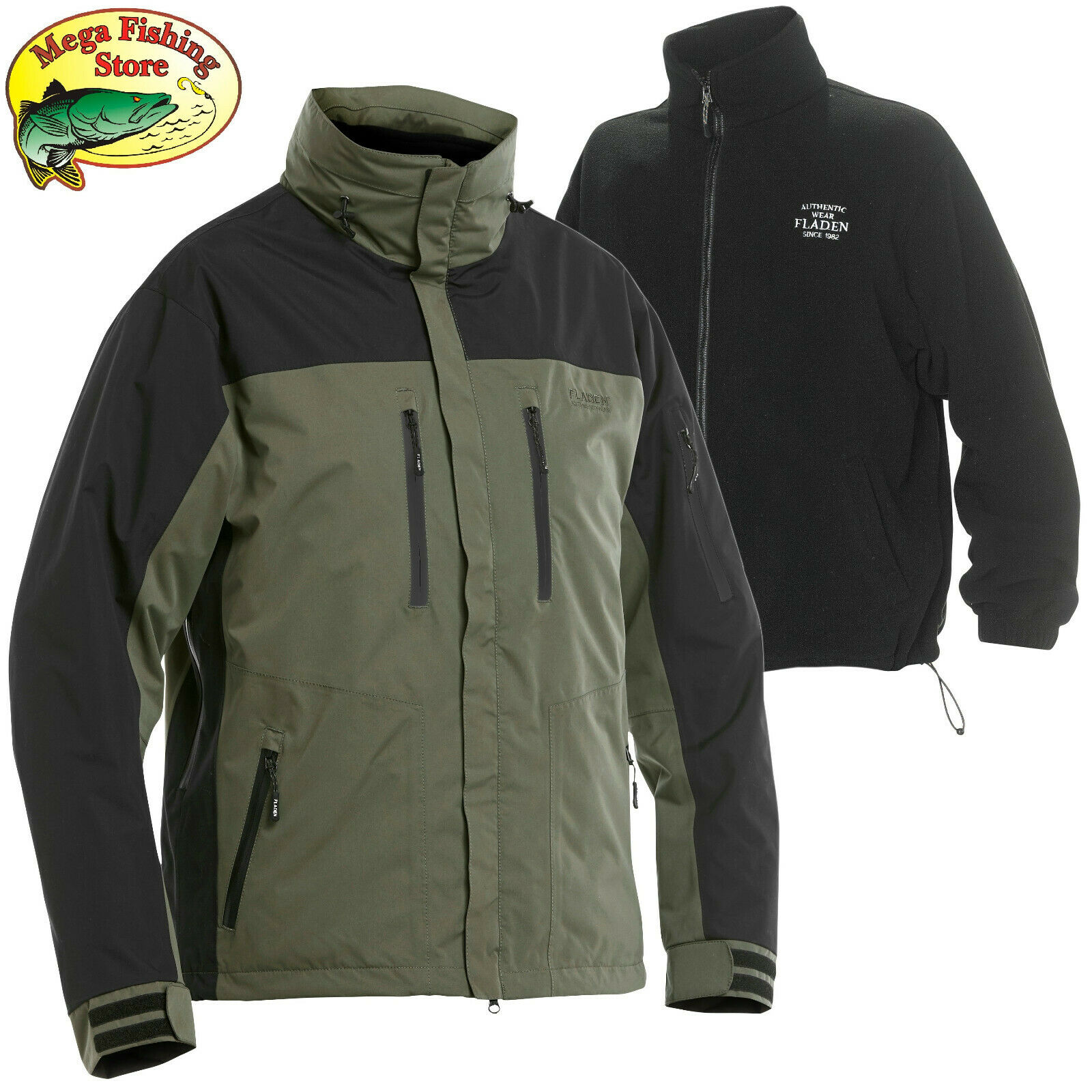Fladen authentic 3in1 outdoor chaqueta-ocio & angel chaqueta viento - & impermeable