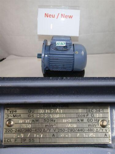 ABB moteur électrique 0,75 KW b5 3000 min qu80m2at triphasé moteur
