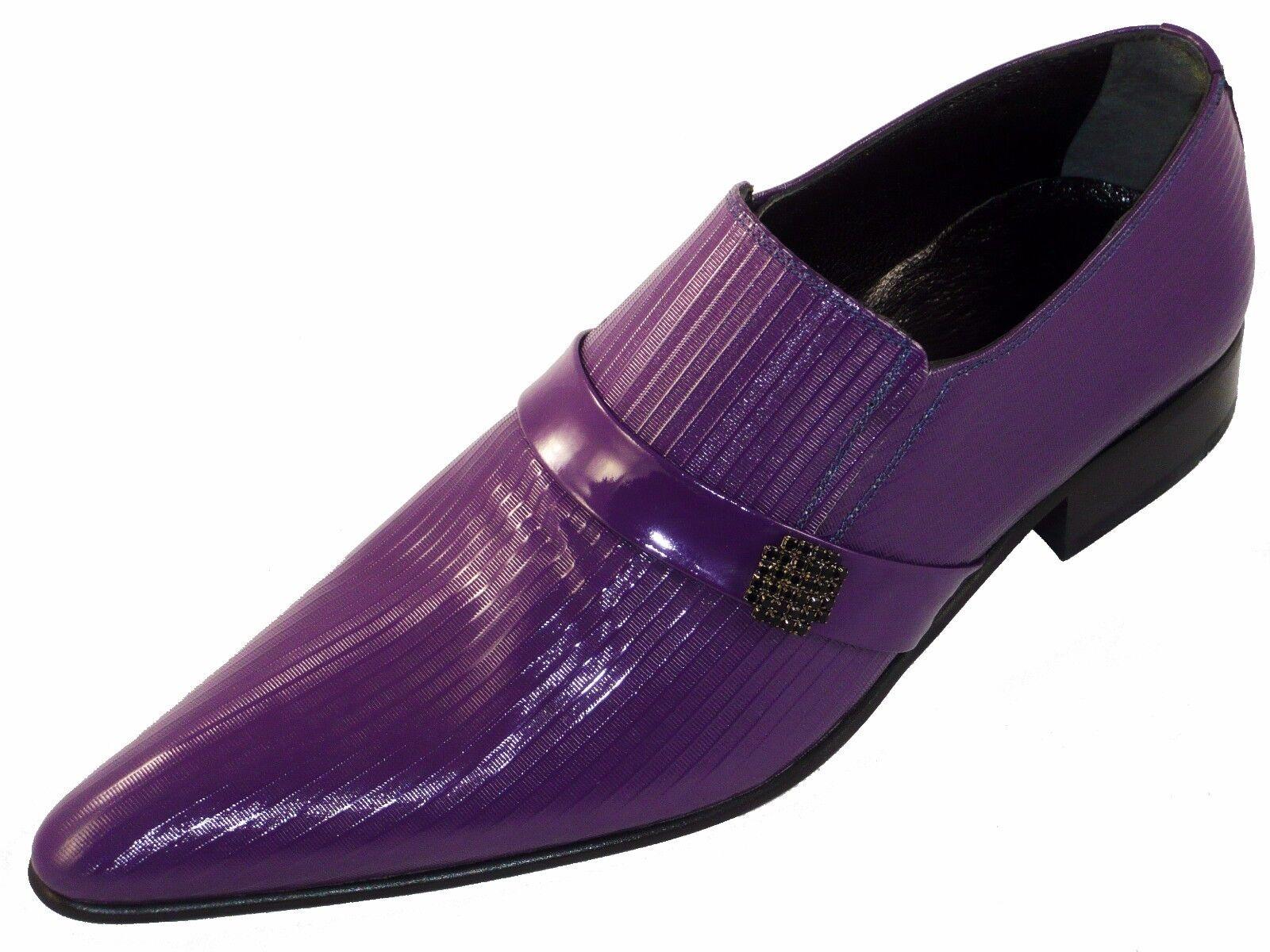 Original Chelsy - Top Italienische Designer Slipper handmade Kalbsleder purple