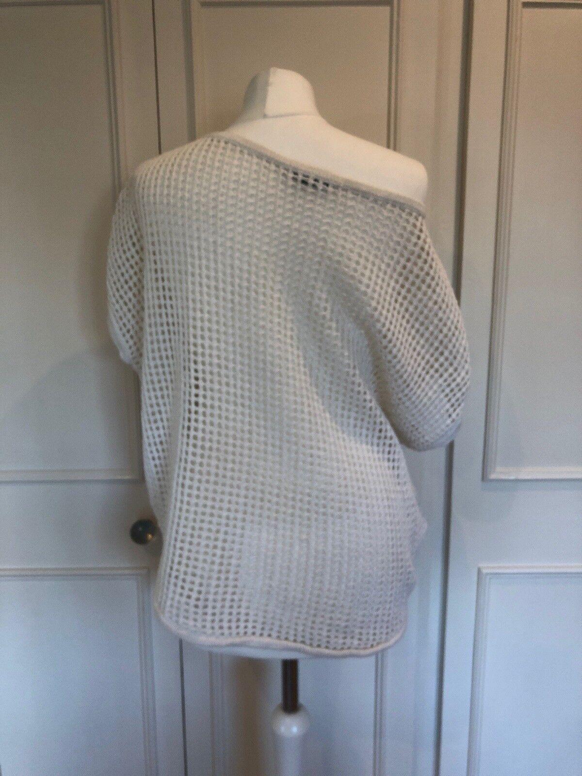 James Perse la Bianco ampia in maglia di cotone cotone cotone & Lino Top 0ae660