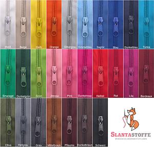 1m Endlos Profil Reißverschluss 5mm 4 Zipper *3 Farben*
