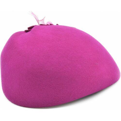 Women Wool Felt Vintage Cloche Hat Feathers Black,Pink,Green Adjustable IN UK