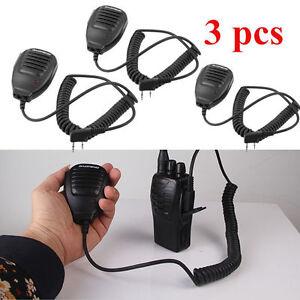 3 LOT Handheld Pofung BAOFENG UV-5R V2+ BF-F8+ WP970 Speaker Mic Walkie Talkie