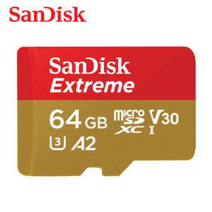 Sandisk Extreme A1 64GB micro SDXC Class10 UHS-I U3 Card 100MB/s with Adapter
