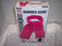 Gift Shop,battery Operated Heated Scarf Hand Pockets Pink Fleece, 3 Hrs Of Heat