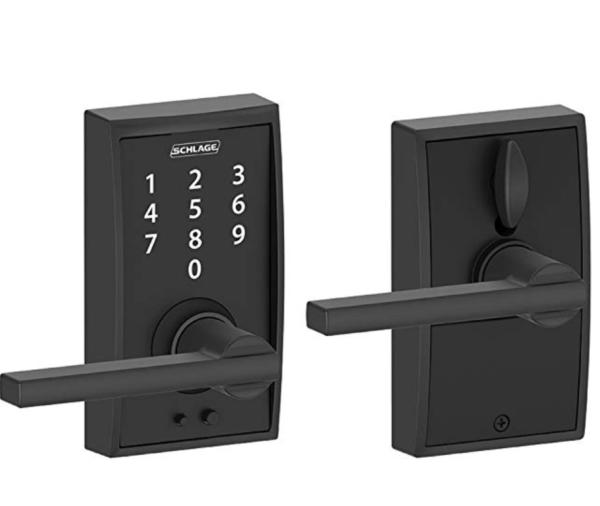 Schlage Touch Keyless Touchscreen Century Trim Matte Black