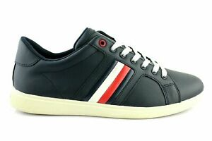 best authentic d79c2 14af2 Details zu Tommy Hilfiger Danny 2A Sneaker Low Schuhe Shoes Leder Blau Gr.  42