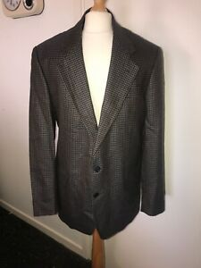 Mens Austin Reed Jacket Size 40 Long Pure Wool Herringbone Tweed Blazer Jacket Ebay