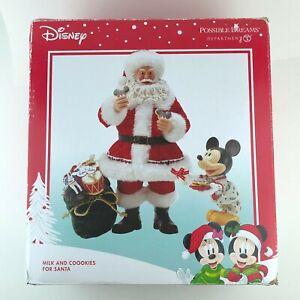 Dept 56 Possible Dreams Disney Milk and Cookies for Santa 6000723