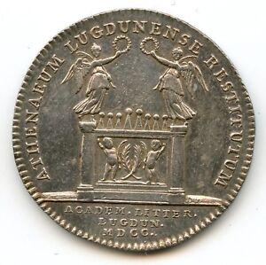 Lyon Academia de Las Letras Ficha Plata 1700 Feuardent Var 10747