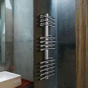 Scaldasalviette termoarredo curvo cromato in acciaio per bagno ebay - Termoarredo bagno cromato ...