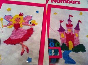 Kids-Kit-Punto-De-Cruz-bordado-por-numeros-EDAD-8-X-Puntada-Childrens-Crafts