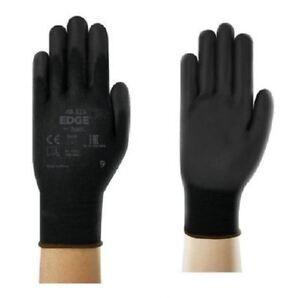 24-Paires-ANSELL-Edge-48-126-Noir-PU-Coated-Builders-jardinage-bricolage-gants-de-travail