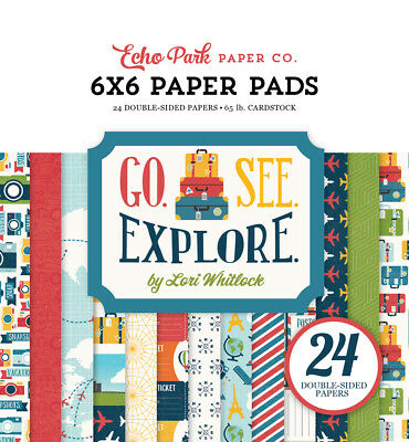 ECHO PARK FALL DOTS /& STRIPES 6X6 PAPER PAD DOUBLE-SIDED NEW A15816