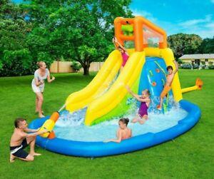 Bestway Kids Inflatable H2OGO Mega Water Park Bouncy Castle Water Gun Pool Slide