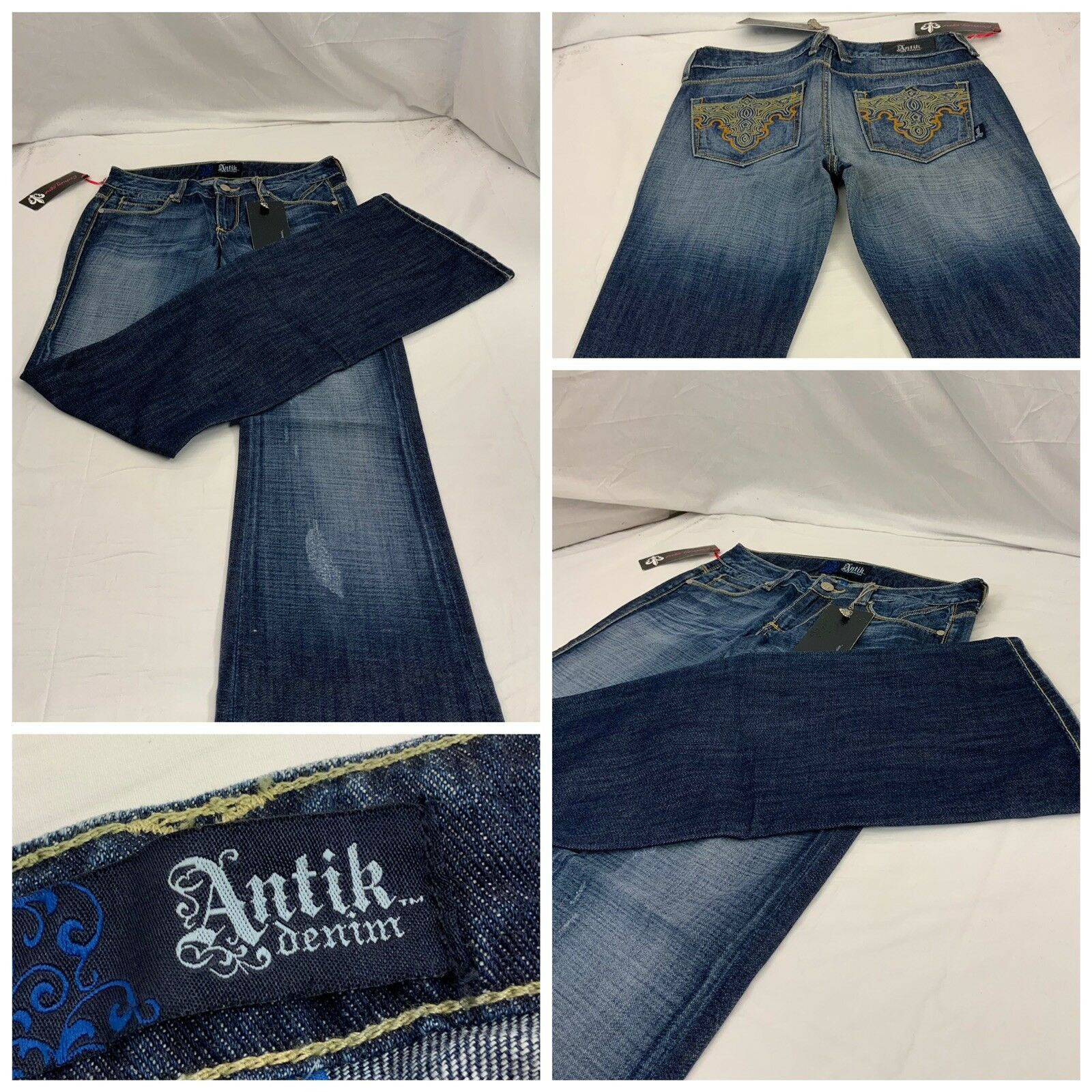 Antik Denim Jeans Sz 26 bluee 100% Cotton Made In Mexico NWT YGI Y8-437CG