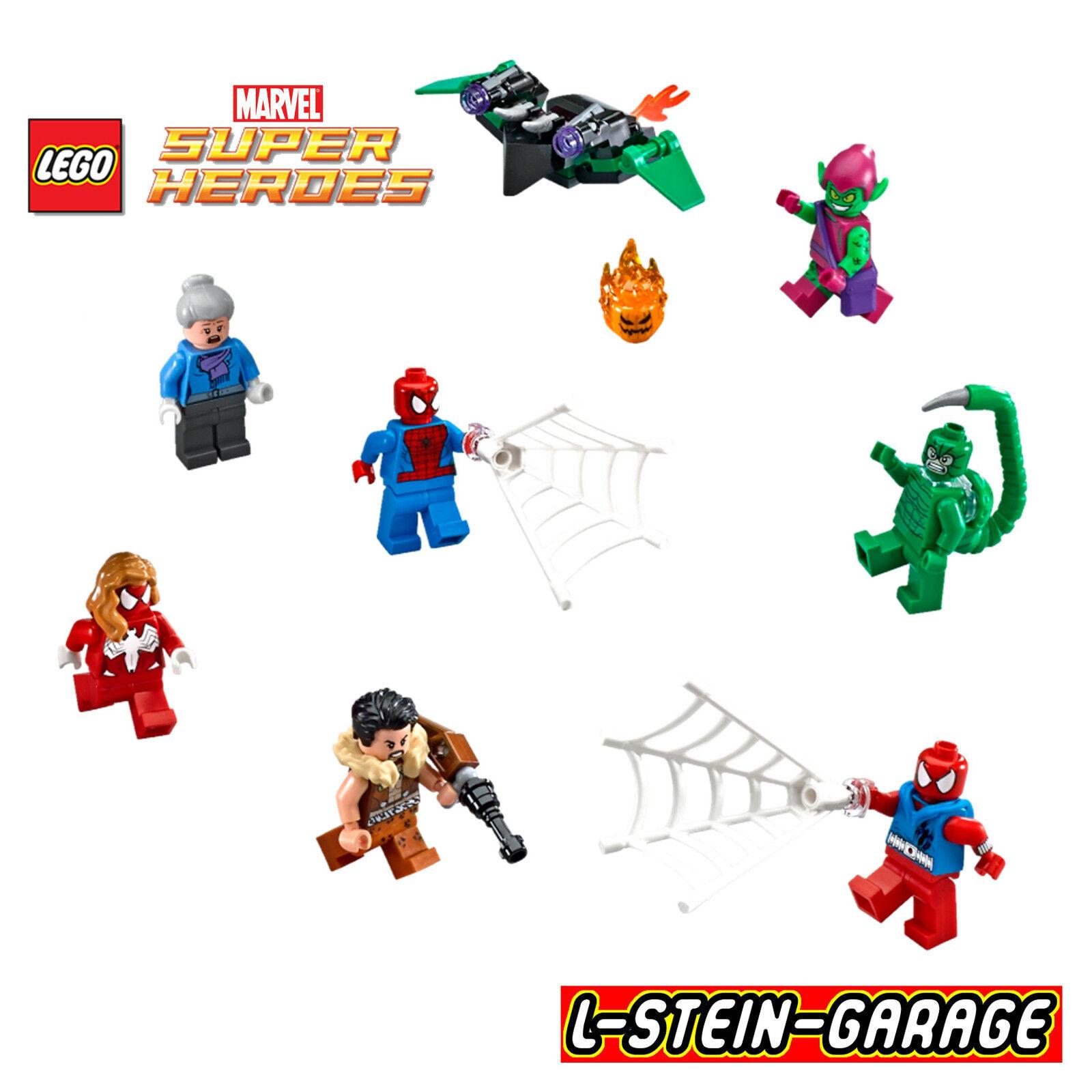 LEGO® Super Heroes Figuren aus Set 76057 beinhalten die 7 Figuren + Gleiter NEU