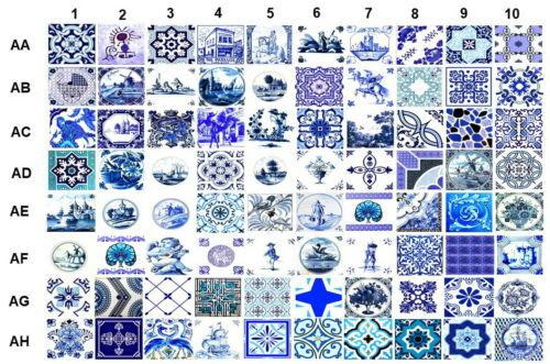 Kashiwall:Wall Tile Sticker Kitchen Bathroom Decorative Decals-15X15cm-10//PK