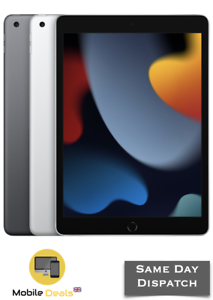 "New Apple iPad 9th Generation 10.2"" 64GB & 256GB WiFi iOS 2021 All Colours"