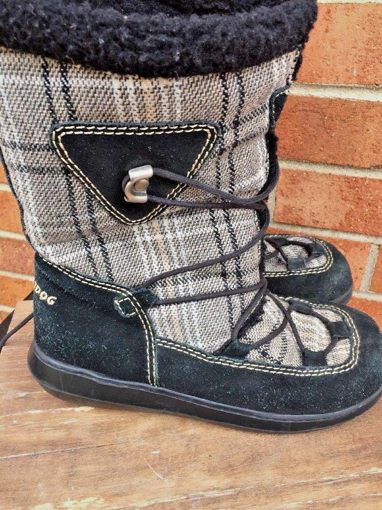 ROCKET DOG Plaid Tartan Fuzzy Fleece Lined Muk Luks Boots shoes Womens Sz 8.5